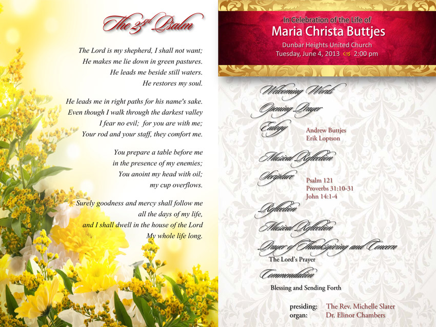 Maria Christa Buttjes Memorial Page