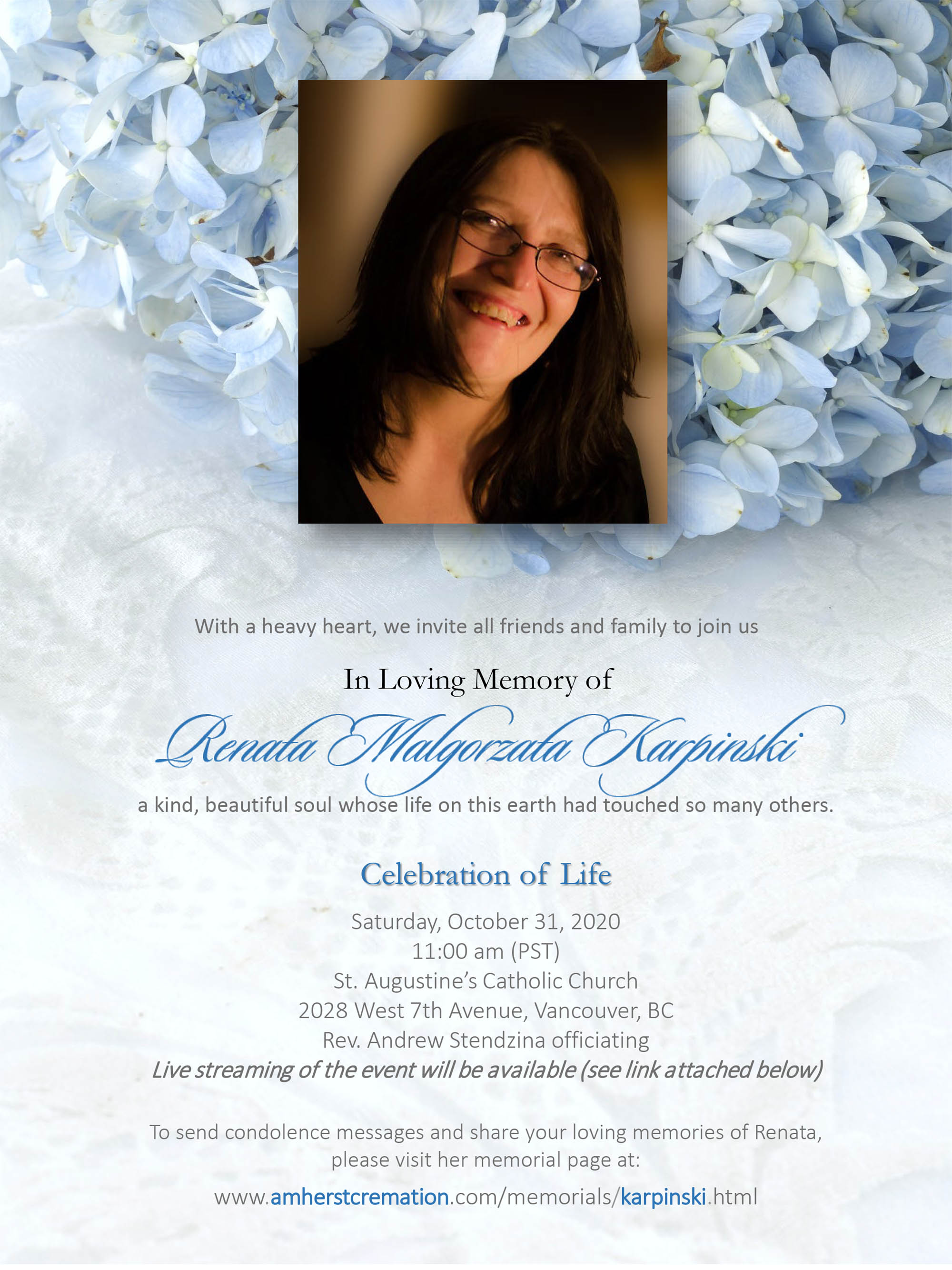 Celebration of Life of Renata Karpinski