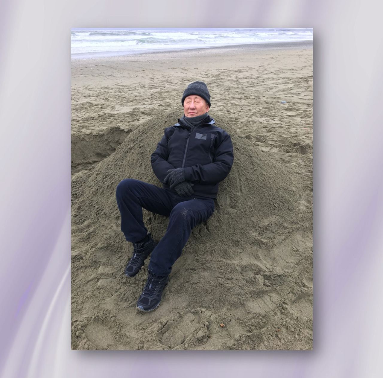 Dr Yoon Myung Choong at the beach